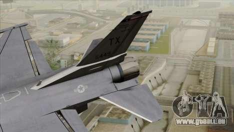 F-16D Fighting Falcon pour GTA San Andreas sur la vue arrière gauche
