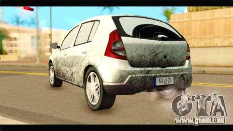 Dacia Sandero Dirty Version für GTA San Andreas linke Ansicht