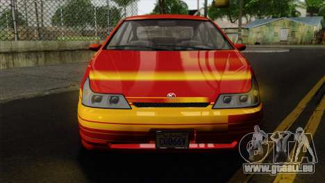 GTA 5 Karin Dilettante IVF pour GTA San Andreas vue arrière
