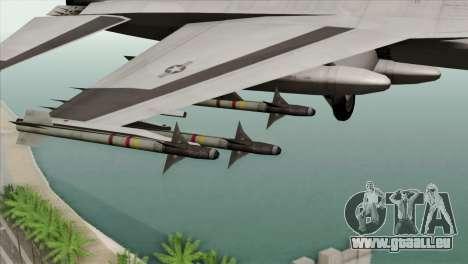 F-16C Fighting Falcon Wind Sword Squadron für GTA San Andreas rechten Ansicht