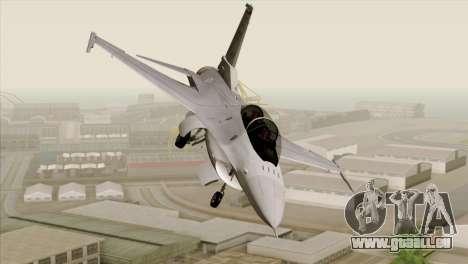 F-16D Fighting Falcon für GTA San Andreas Rückansicht