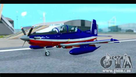 Beechcraft T-6 Texan II Red pour GTA San Andreas