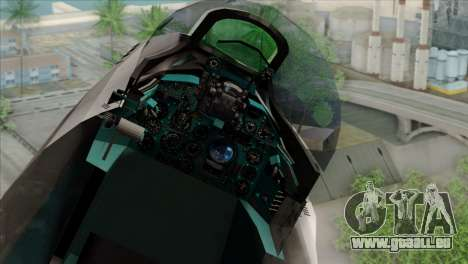 Hawker Hunter F6A für GTA San Andreas Rückansicht