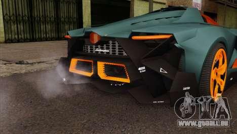 Lamborghini Egoista für GTA San Andreas Rückansicht