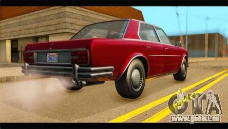 GTA 5 Benefactor Glendale IVF pour GTA San Andreas laissé vue