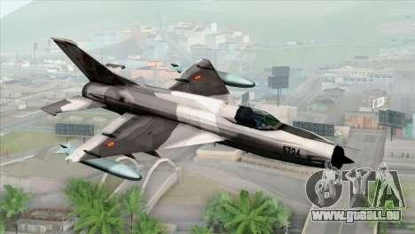 Hawker Hunter F6A für GTA San Andreas