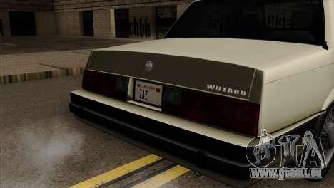 GTA 4 Willard II pour GTA San Andreas vue arrière