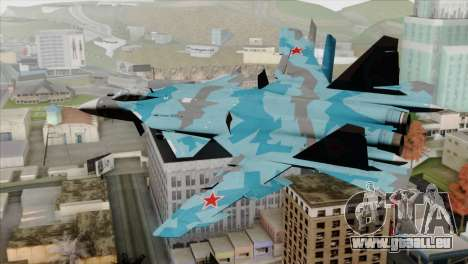 SU-47 Berkut Winter Camo für GTA San Andreas linke Ansicht