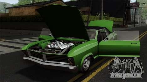 GTA 5 Albany Buccaneer IVF pour GTA San Andreas vue arrière