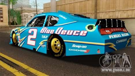 NASCAR Dodge Charger 2012 Plate Track pour GTA San Andreas laissé vue
