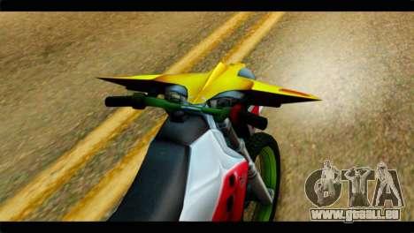 Trychaser 2000 pour GTA San Andreas vue arrière