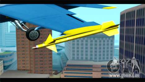 McDonnell Douglas FA-18 Blue Angel für GTA San Andreas Rückansicht