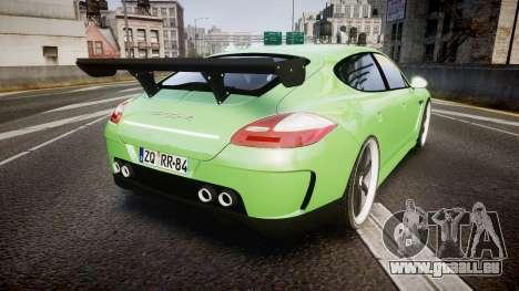 Porsche Panamera Turbo 2010 pour GTA 4 Vue arrière de la gauche