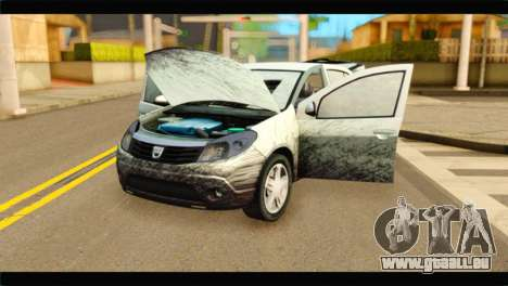 Dacia Sandero Dirty Version für GTA San Andreas Rückansicht