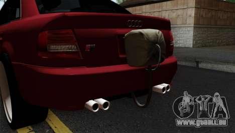 Audi S4 2000 Drag Version pour GTA San Andreas vue arrière