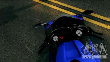 Yamaha YZF-R1 PJ pour GTA San Andreas sur la vue arrière gauche