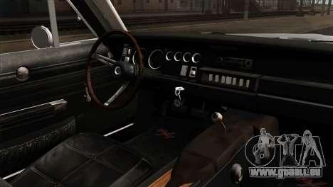 Dodge Charger 1968 für GTA San Andreas zurück linke Ansicht