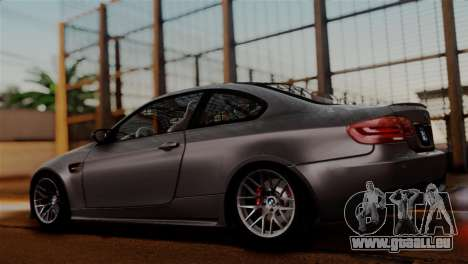 BMW M3 E92 GTS 2012 v2.0 Final pour GTA San Andreas vue intérieure