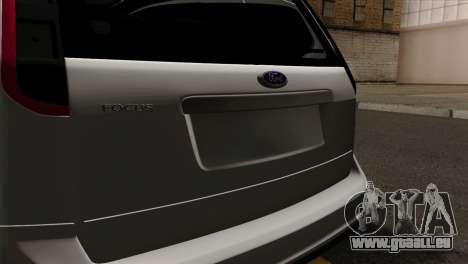 Ford Focus Wagon für GTA San Andreas Rückansicht
