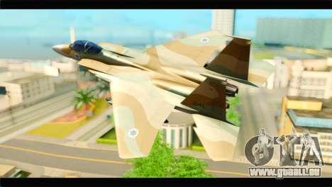 Boeing F-15C IAF für GTA San Andreas linke Ansicht
