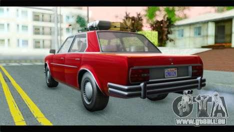 GTA 5 Benefactor Glendale für GTA San Andreas linke Ansicht