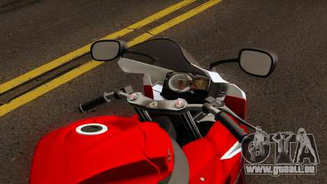 Suzuki GSX-R 2015 Red & White für GTA San Andreas rechten Ansicht