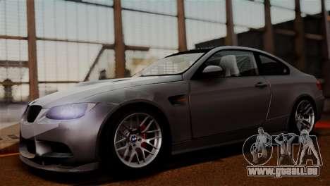 BMW M3 E92 GTS 2012 v2.0 Final pour GTA San Andreas vue arrière