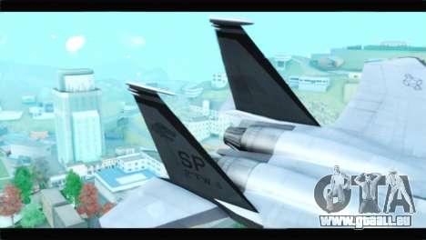 McDonnell Douglas F-15D Timberwolves Squadron pour GTA San Andreas sur la vue arrière gauche