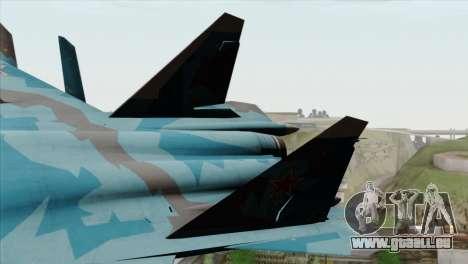 SU-47 Berkut Winter Camo pour GTA San Andreas sur la vue arrière gauche