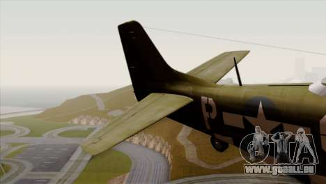 P-51D Mustang Da Quake pour GTA San Andreas sur la vue arrière gauche