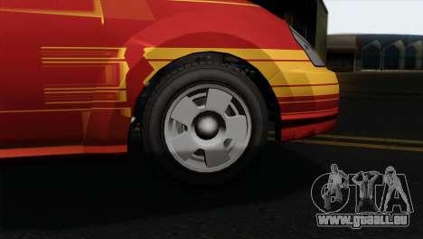 GTA 5 Karin Dilettante IVF pour GTA San Andreas sur la vue arrière gauche