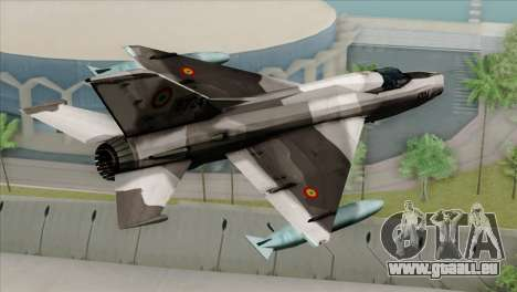 Hawker Hunter F6A pour GTA San Andreas laissé vue