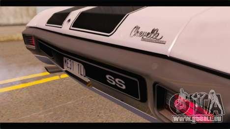 Chevrolet Chevelle 1970 3D Shadow pour GTA San Andreas vue arrière