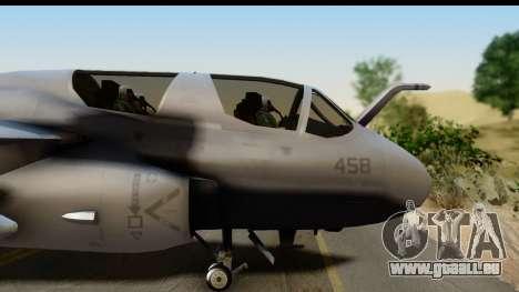 Northrop Grumman EA-6B VAQ-194 Skyshields für GTA San Andreas zurück linke Ansicht