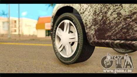 Dacia Sandero Dirty Version pour GTA San Andreas sur la vue arrière gauche