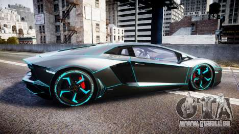 Lamborghini Aventador TRON Edition [EPM] Updated pour GTA 4 est une gauche