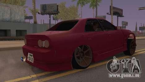 Nissan Skyline ER33 pour GTA San Andreas sur la vue arrière gauche
