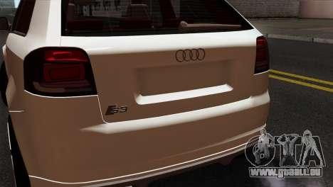 Audi S3 2011 pour GTA San Andreas vue arrière