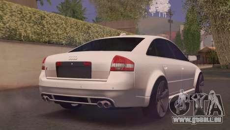 Audi RS6 pour GTA San Andreas laissé vue