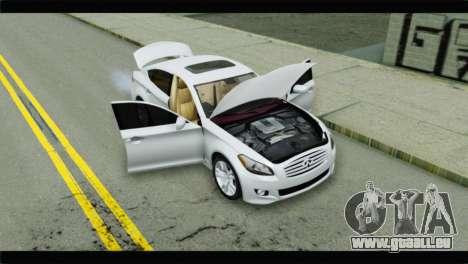Infiniti M56 für GTA San Andreas Rückansicht