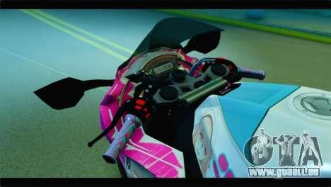 Kawasaki Ninja ZX-10R Super Sonico Itansha pour GTA San Andreas vue de droite