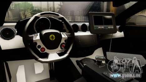 NFS Rivals Ferrari FF Cop pour GTA San Andreas vue intérieure
