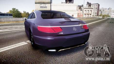 Mercedes-Benz S500 (C217) 2015 pour GTA 4 Vue arrière de la gauche