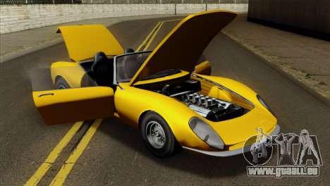 GTA 5 Grotti Stinger v2 für GTA San Andreas Rückansicht