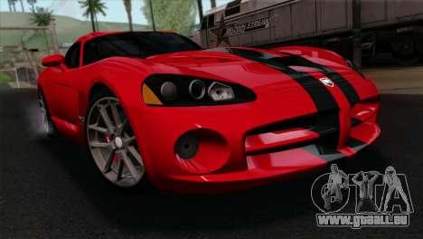 Dodge Viper SRT10 v1 pour GTA San Andreas