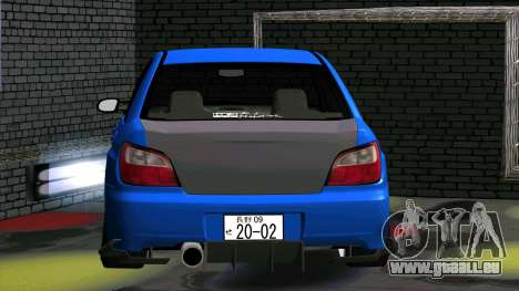 Subaru Impreza WRX pour GTA San Andreas vue intérieure
