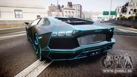 Lamborghini Aventador TRON Edition [EPM] Updated pour GTA 4 Vue arrière de la gauche