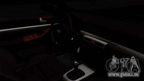 Audi S4 2000 Drag Version pour GTA San Andreas vue de droite
