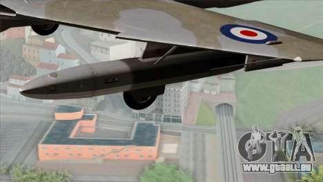 MIG-21MF Romanian Air Force für GTA San Andreas rechten Ansicht