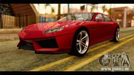 Lamborghini Estoque PJ pour GTA San Andreas